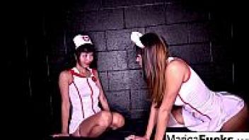 ">xxx เลสเบี้ยนพยาบาลเย็ดกัน ""Marica Hase"" ดาราโป๊ญี่ปุ่นหุ่นเด็ด กับฉากเสียวหีที่ต้องโดนเลสเบี้ยนฝรั่ง จับเลียหีคาชุดนางพยาบาล"